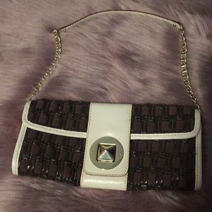 Kate Spade Purse brown and white
